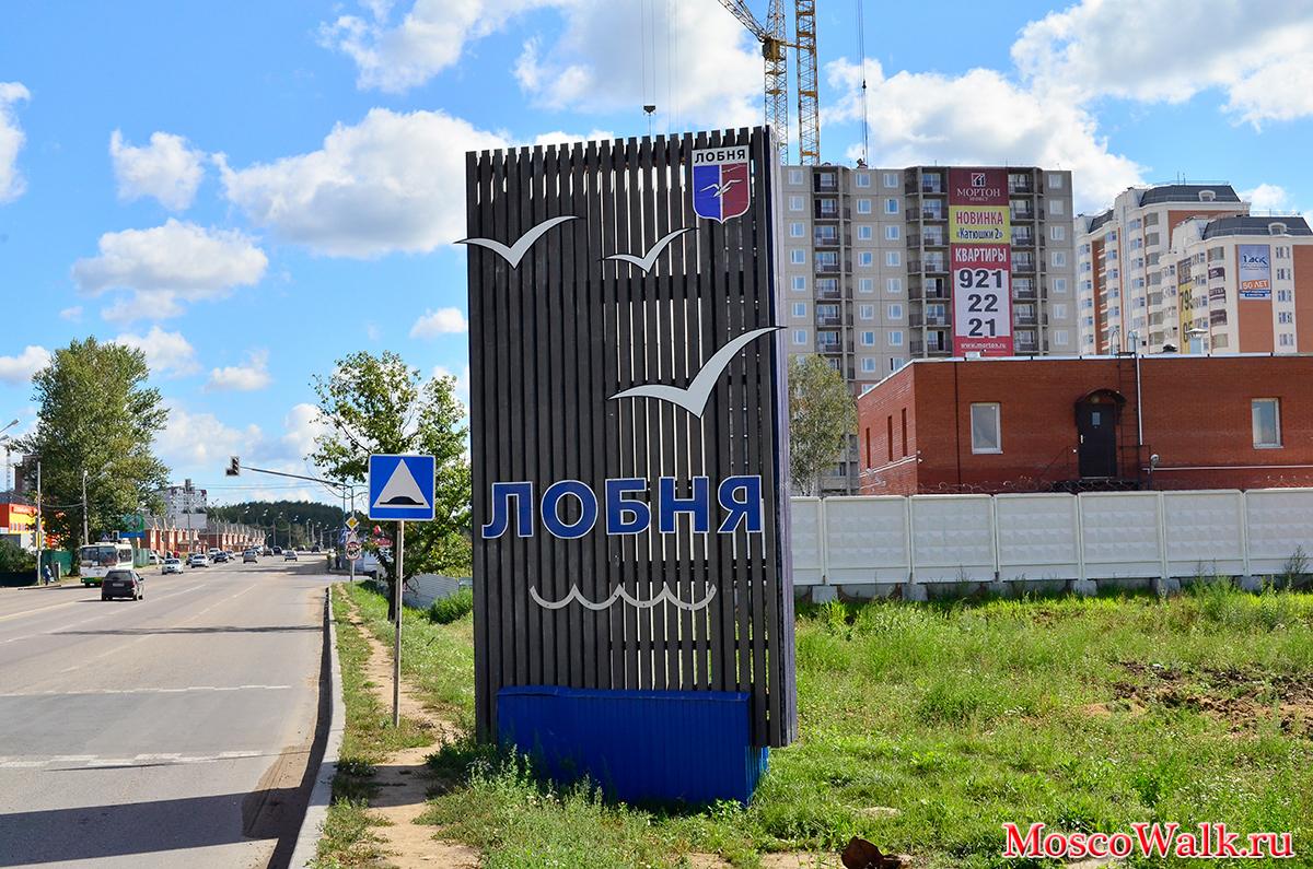 Улица Ленина город Лобня.