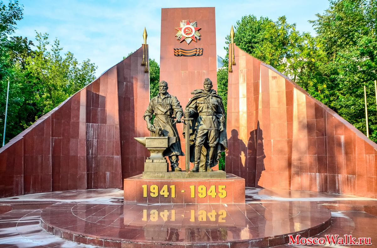 памятник из цветного гранита Мещовск