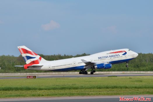 Взлет British Airways
