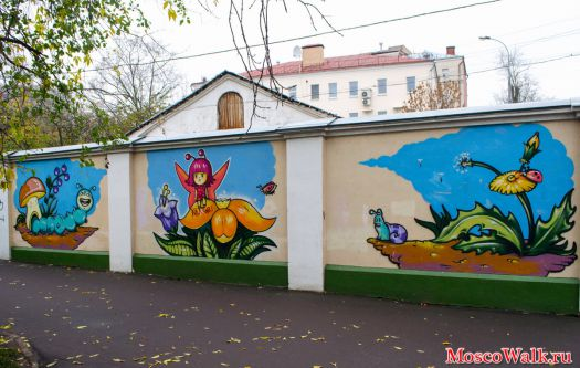 Рисунки на заборе на даче своими руками