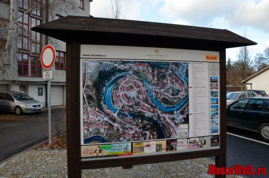 ...Чешской республике на машине, мы посетили очень привлекательный и уютный старинный городок - Чески Крумлов...