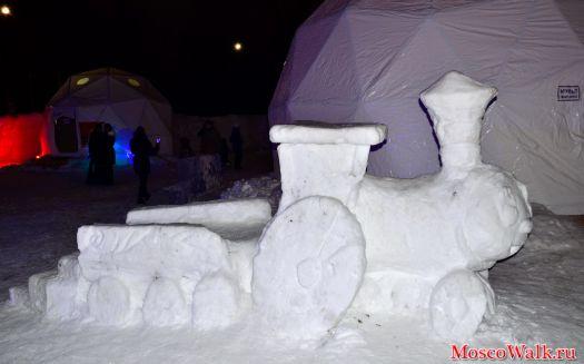 Детские фигуры из снега своими руками фото