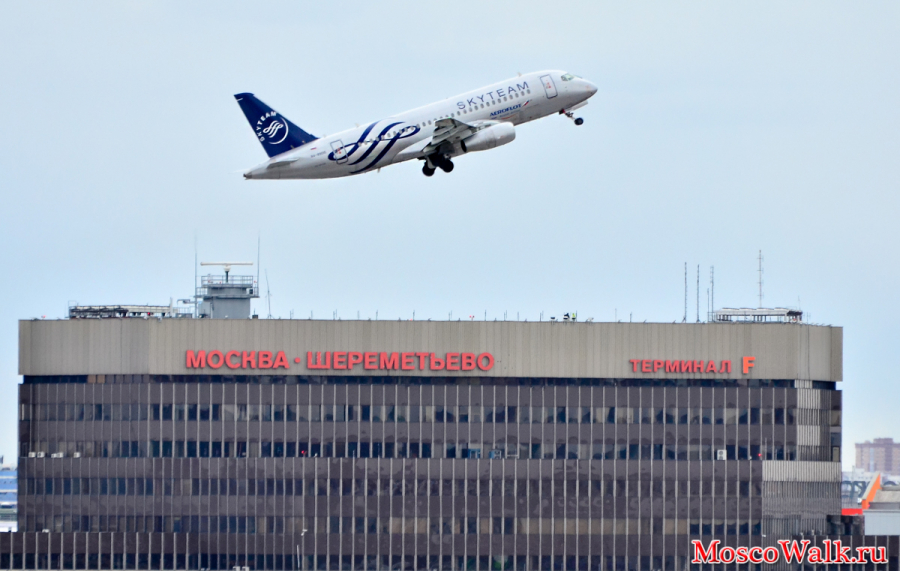 Sukhoi Superjet 100 в ливрее альянса SkyTeam