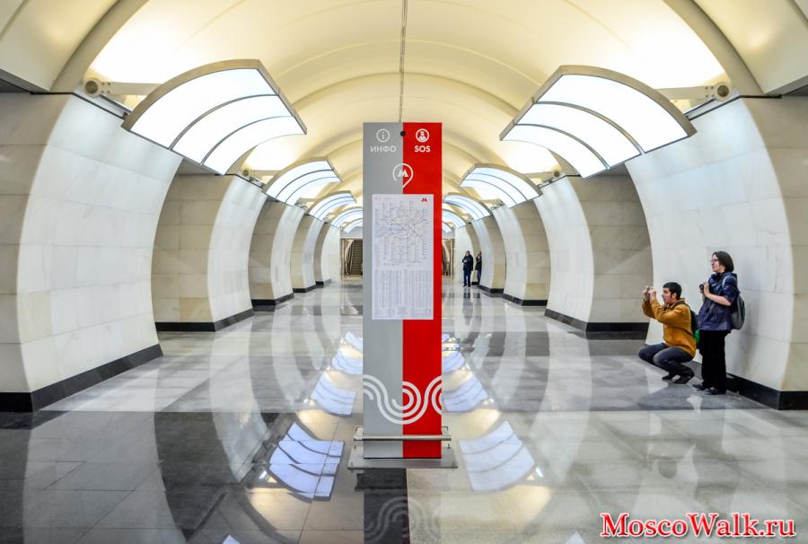 стойка ИНФО на станции Бутырская