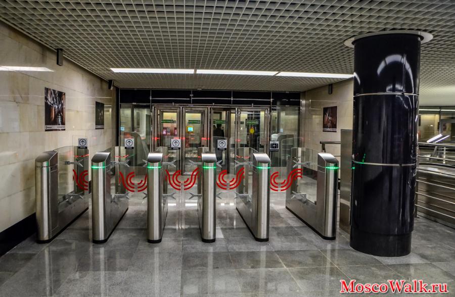 Станция Бутырская турникеты